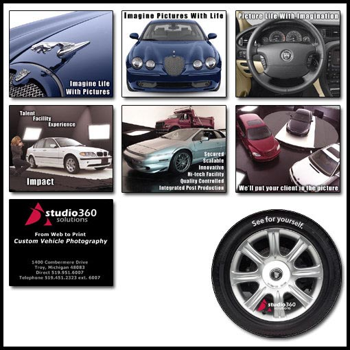 Promo slideshow images and CD design for Autodata photography studio