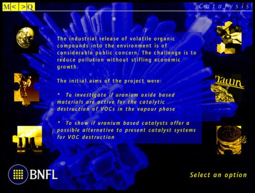 Interactive media design for BNFL: catalysis
